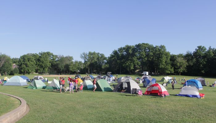 tents set up for the family campout