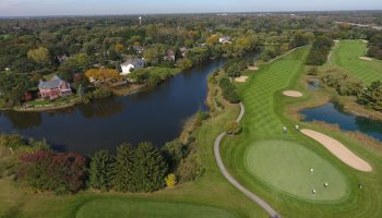 Drone photo of the golf club