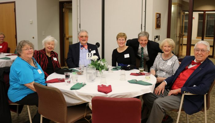 members at the winter party