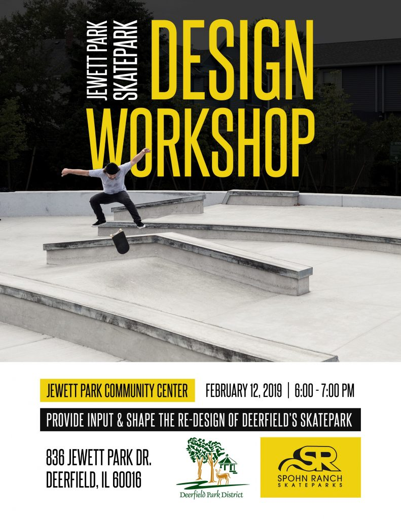 jewett skate park design meeting flyer