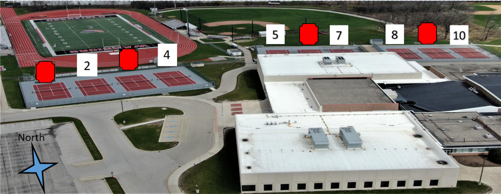 DHS tennis court map